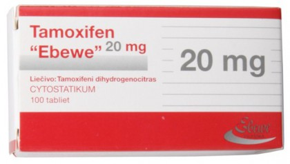 Tamoxifene citrate Ebewe 20 mg (100 tab)